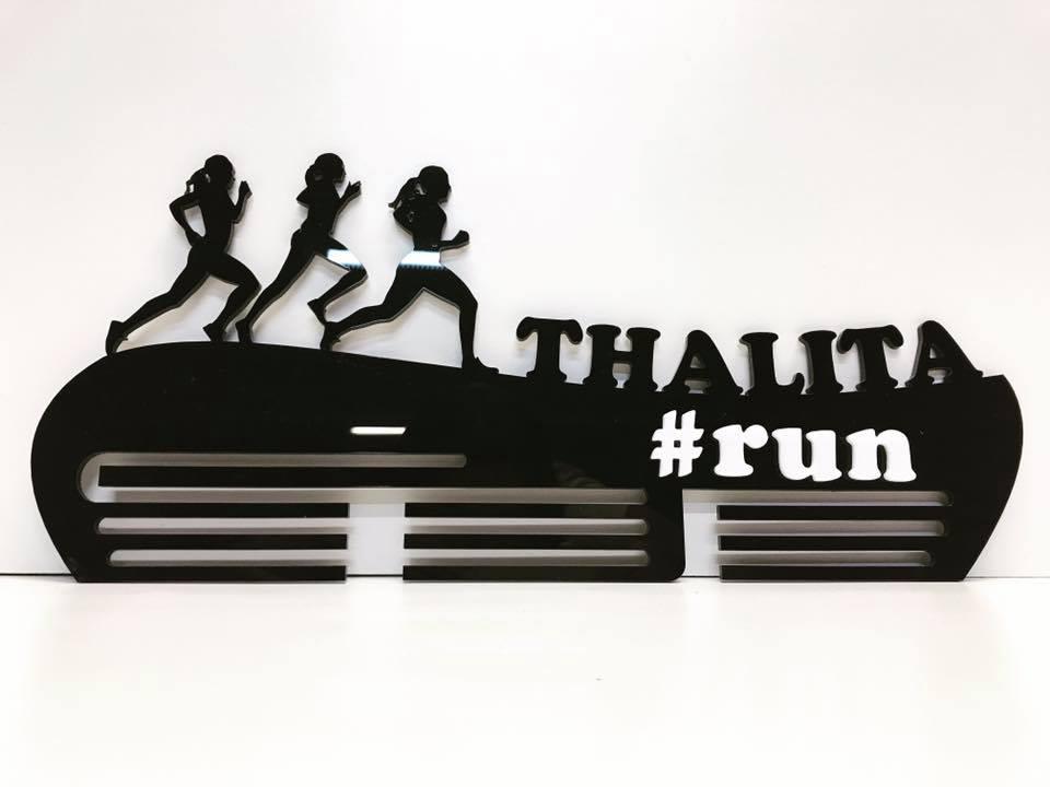 Porta Medalhas Personalizado Acrílico Corrida Aplique #run Feminino 4