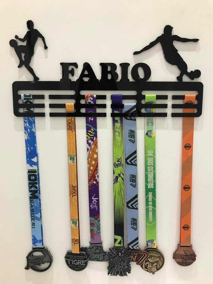 Porta Medalhas Personalizado Acrílico Futebol 3