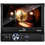 Radio Automotivo com GPS TV digital tela 7 pol Retratil SLIDE Multilaser P3211