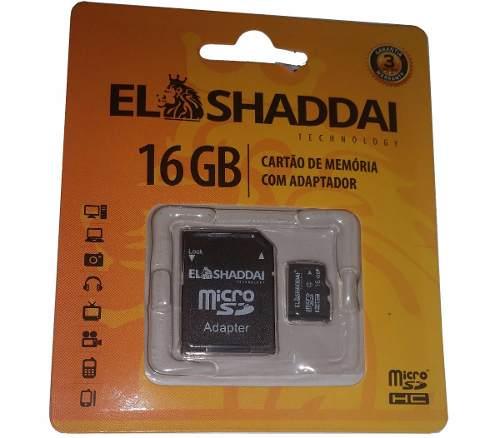 Cartão Memória Micro Sd 16gb Para Samsung Nokia Lg Motorola El Shaddai