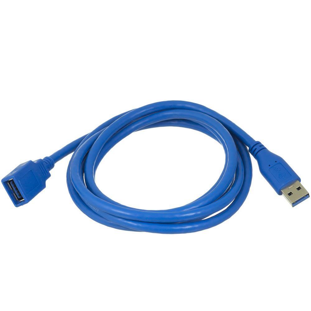 Cabo Extensor USB 3.0 para Pen Drive MP4 MP5 Webcam 1.80mt Multilaser WL210