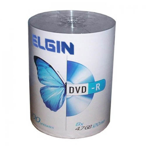 DVD-R 100 Mídias Printable Elgin 4.7Gb 16x