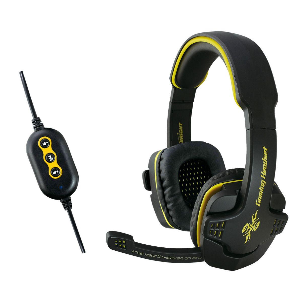Fone de Ouvido Headset Gamer 7.1 Conexão Usb Bright 0354