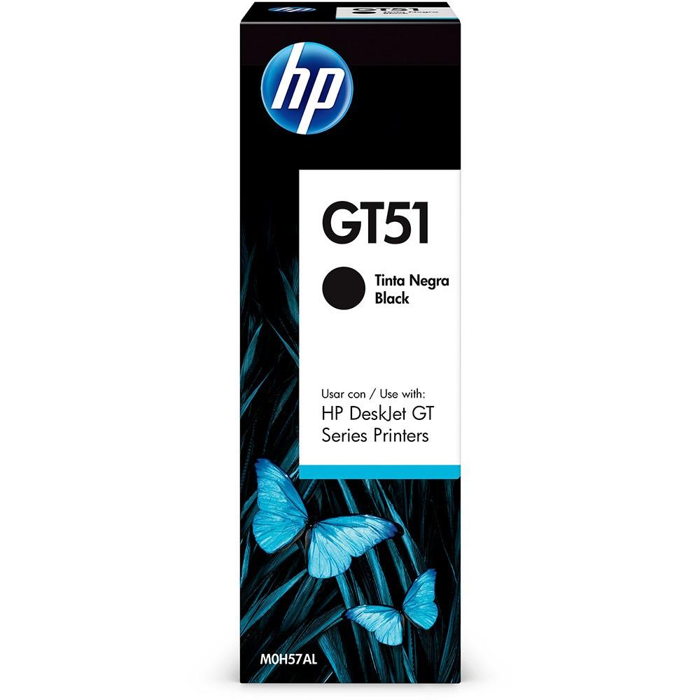 Garrafa refil de Tinta HP M0H57AL GT51 GT 5810 5820 5822 Preto 90ML