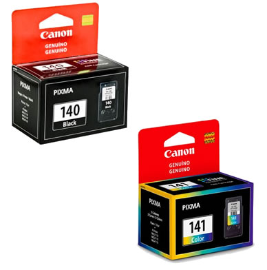 Kit 2 Cartucho Canon PG140 PG-140 CL141 CL-141 Para Mg-3210 Mg3210 Mg4110