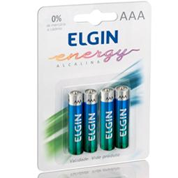 Pilha Alcalina AAA Elgin pacote com 4 pilhas
