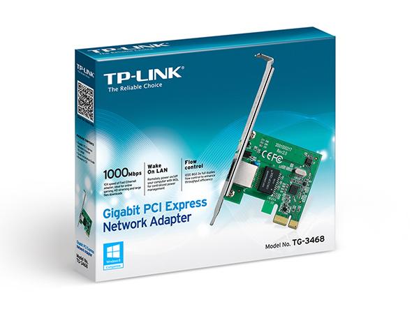 Placa de Rede PCI-E Gigabit 10/100/1000Mbps TP-Link TG-3468