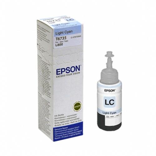Refil de Tinta EPSON T673520 T6735 Ciano Claro para L800 L1800