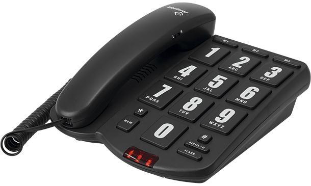 Telefone Intelbras Tok Facil Preto