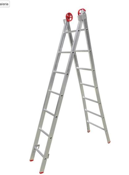 Escada Extensível de Alumínio  7,45 Metros – Real  - TREVO LOCAÇÕES