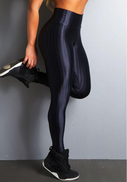 Calça Legging Cirre 3D - Preta