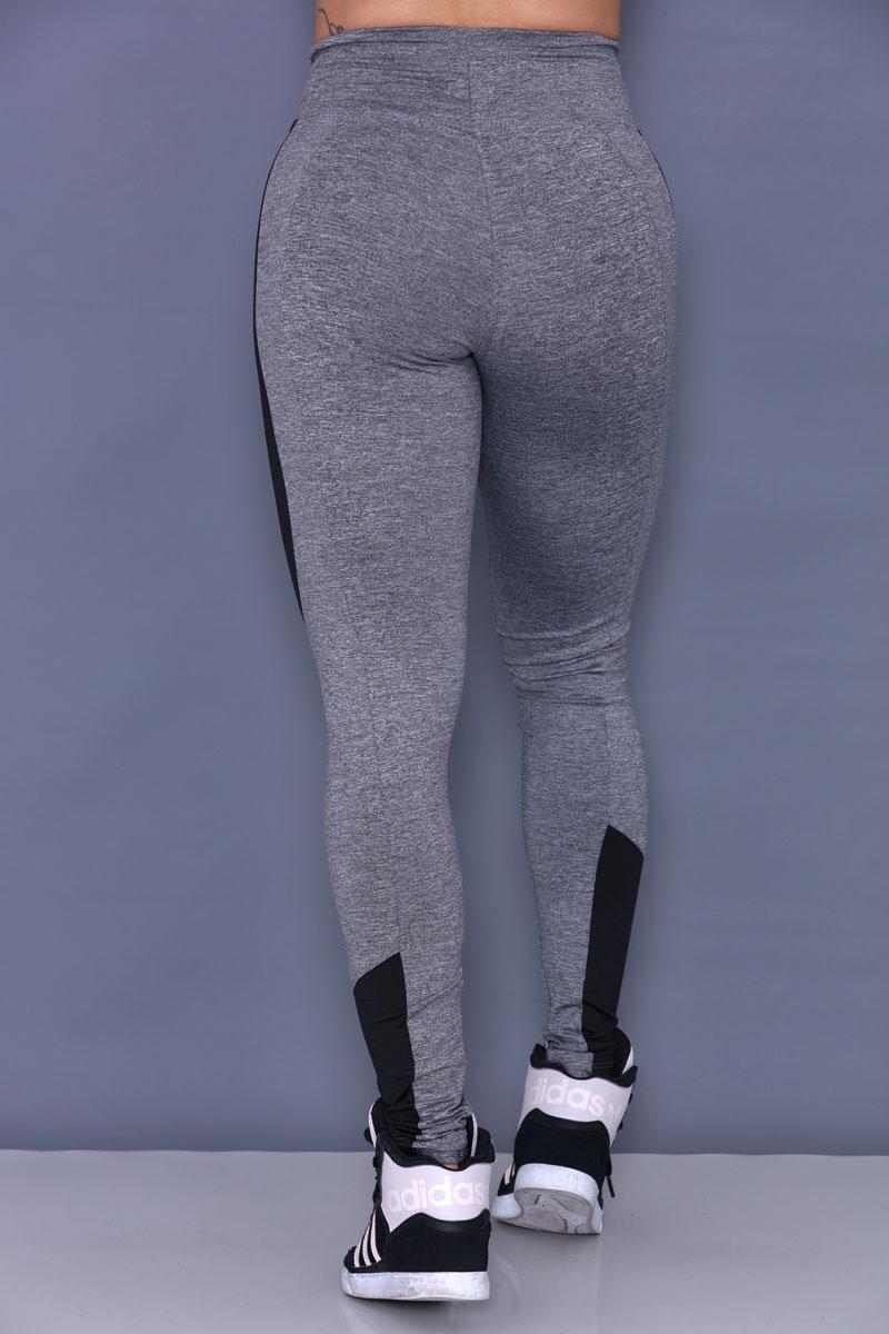 Calça Legging cinza com Recorte