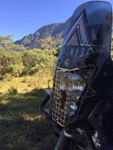 Protetor De Farol Yamaha Teneré 660 Grade Inox Preto