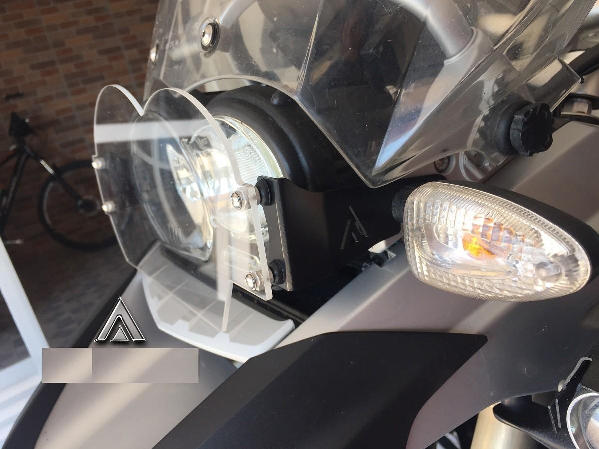 Protetor De Farol Em Policarbonato Bmw R1200gs Até 2012
