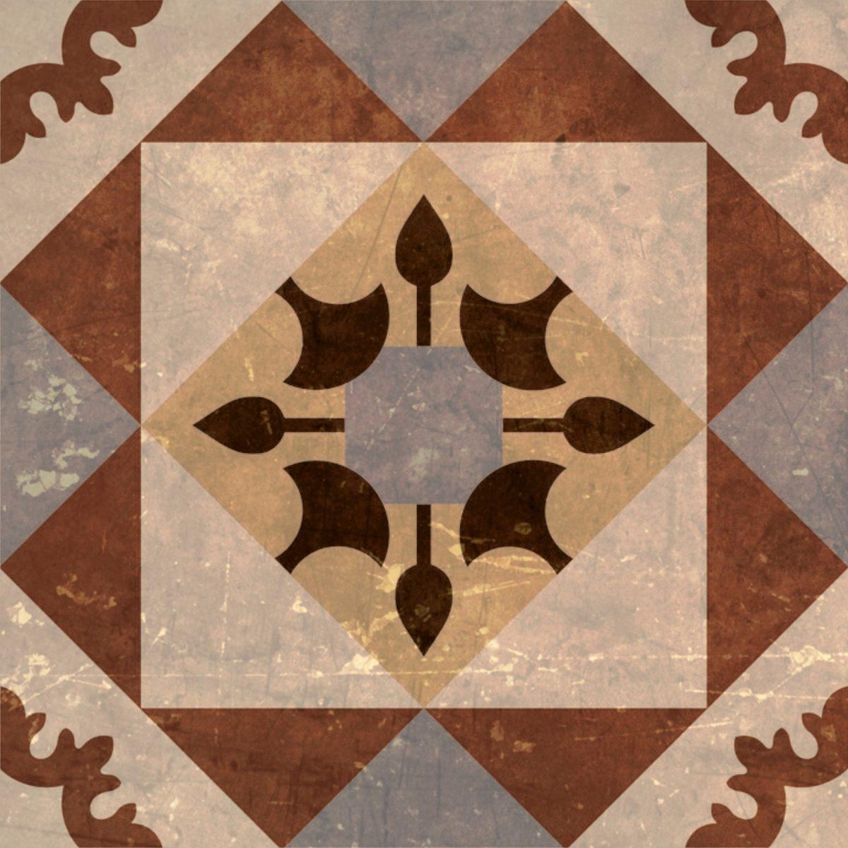 Kit com 10 Adesivos de Azulejo Old Home 15x15cm