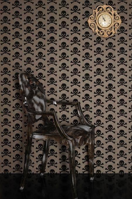 Papel de Parede Vinílico Autocolante Skull