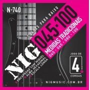 Encordoamento Cordas NIG Baixo 045 - 4 cordas N740