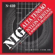 Encordoamento Cordas NIG Violão Nylon Tensão Alta N410