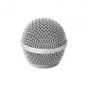 Globo Metálico Prata para Microfone Shure Sm58 Beta 58 e Similares MXT