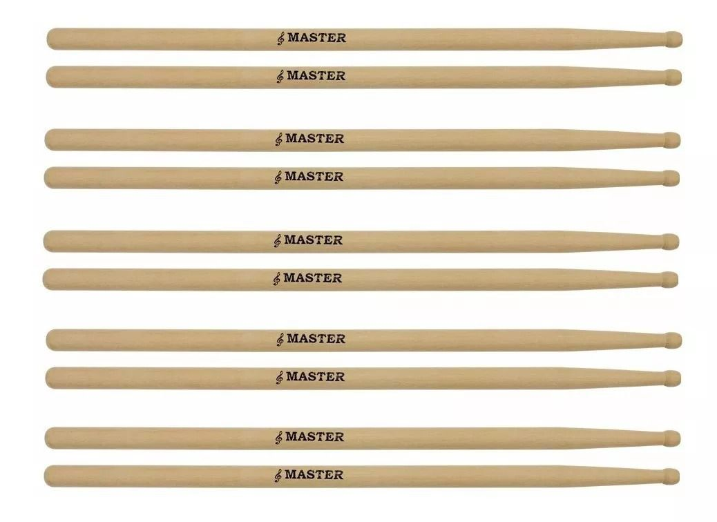 Baqueta Madeira Master Liverpool 5 Pares Mt 11 Mt-11