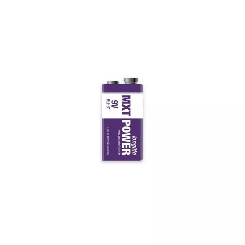 Bateria 9v Mxt Power Longlife Alcalina