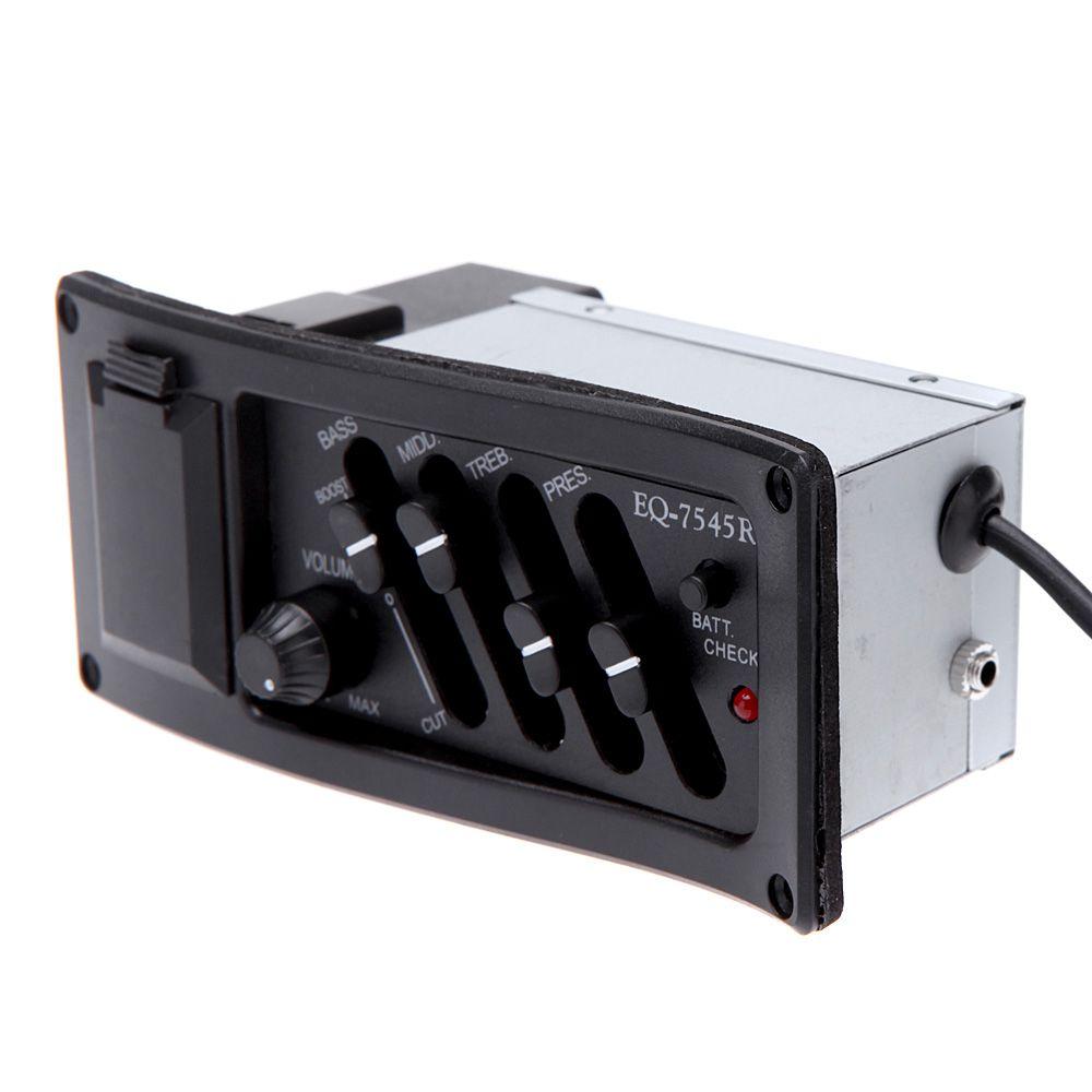 Captador Equalizador 4 Bandas Para Violão E Viola Eq-7545r