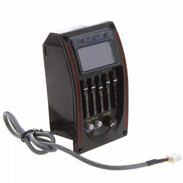 Captador + Equalizador 5 Bandas + Afinador Violão + Bateria
