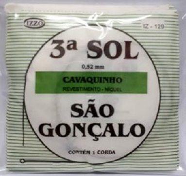 Corda Avulsa Encapada Cavaco Cavaquinho 3 Sol São Gonçalo
