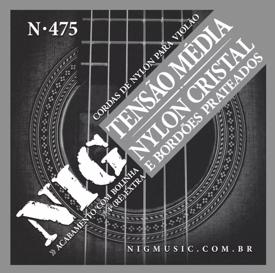 Encordoamento Cordas NIG Violão Nylon Tensão Média N475