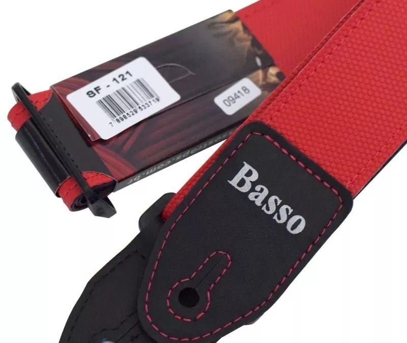 Correia Basso Lisa Vermelha Sf 121 Guitarra Violão Baixo
