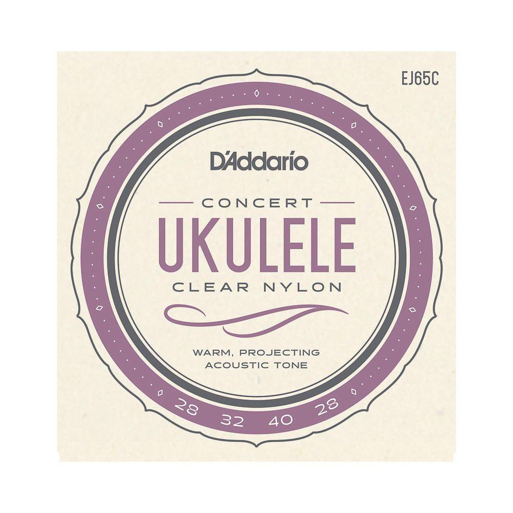 Encordoamento Cordas Ukulele Concert Nylon Daddario Ej65c