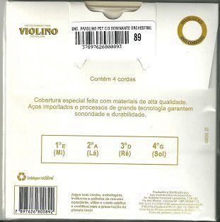 Encordoamento Cordas Violino Dominante Orchestral 89
