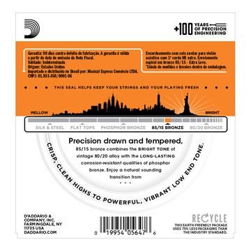Encordoamento Violão Aço 0.10 Daddario EZ900-B