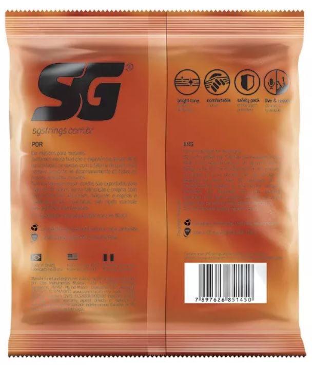 Encordoamento Violão Aço Fosforo 010 Sg Extra Corda Palheta