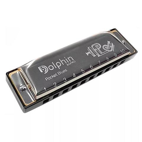 Gaita Blues Diatônica Dolphin Pocket 20 Vozes C Dó Cromada