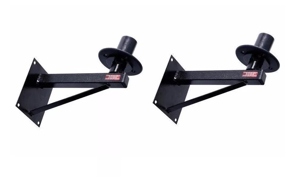 Kit 2 Suporte Ibox Caixa De Som Acústica Fixo Parede Spc 177
