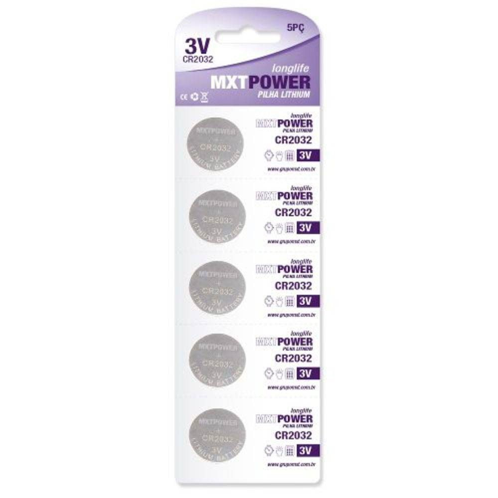 Kit 50 Pilha Bateria Lithium Cr2032 Mxt Relógio
