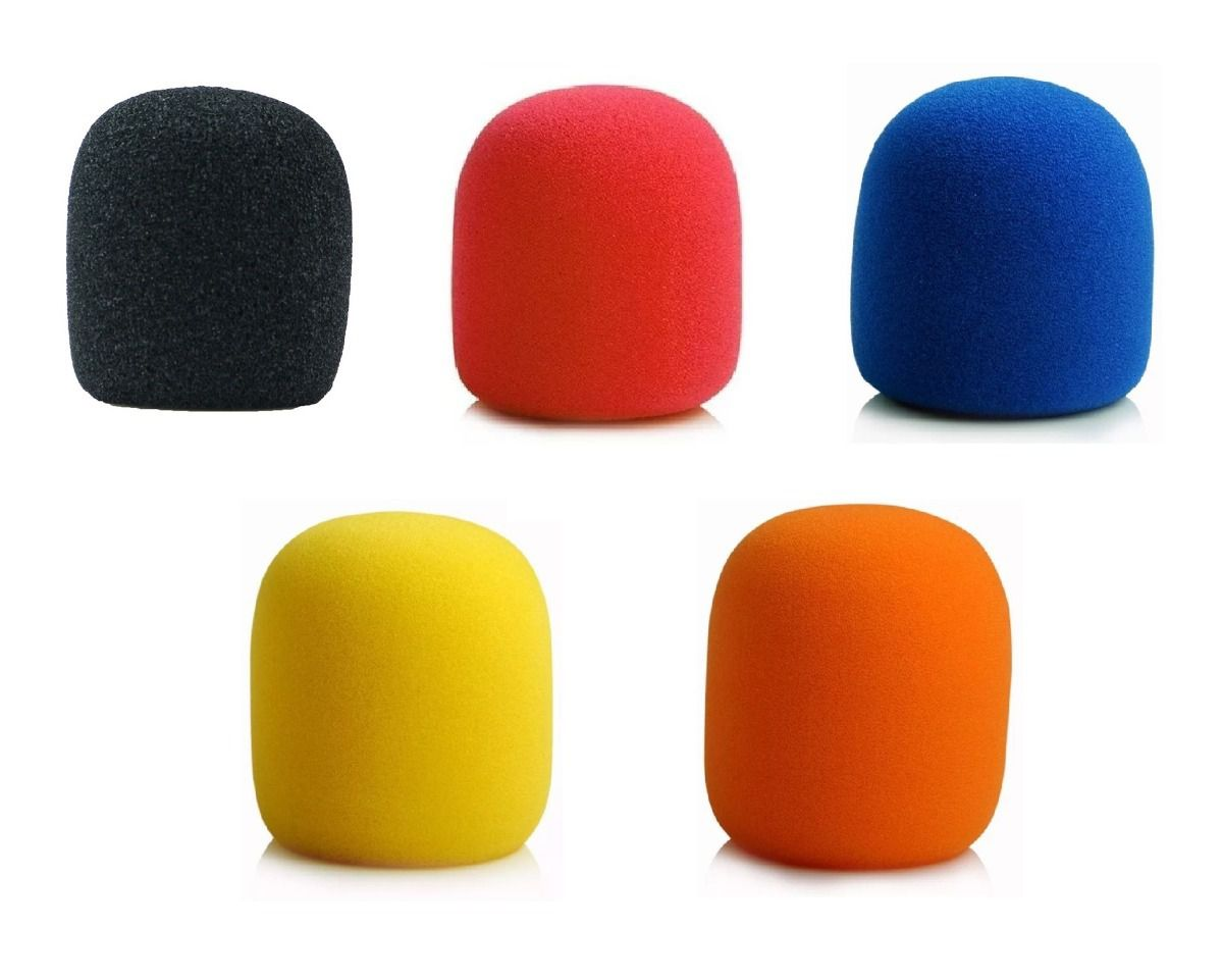Kit 5 Espuma Para Microfone De Mão Sm58 Colorido