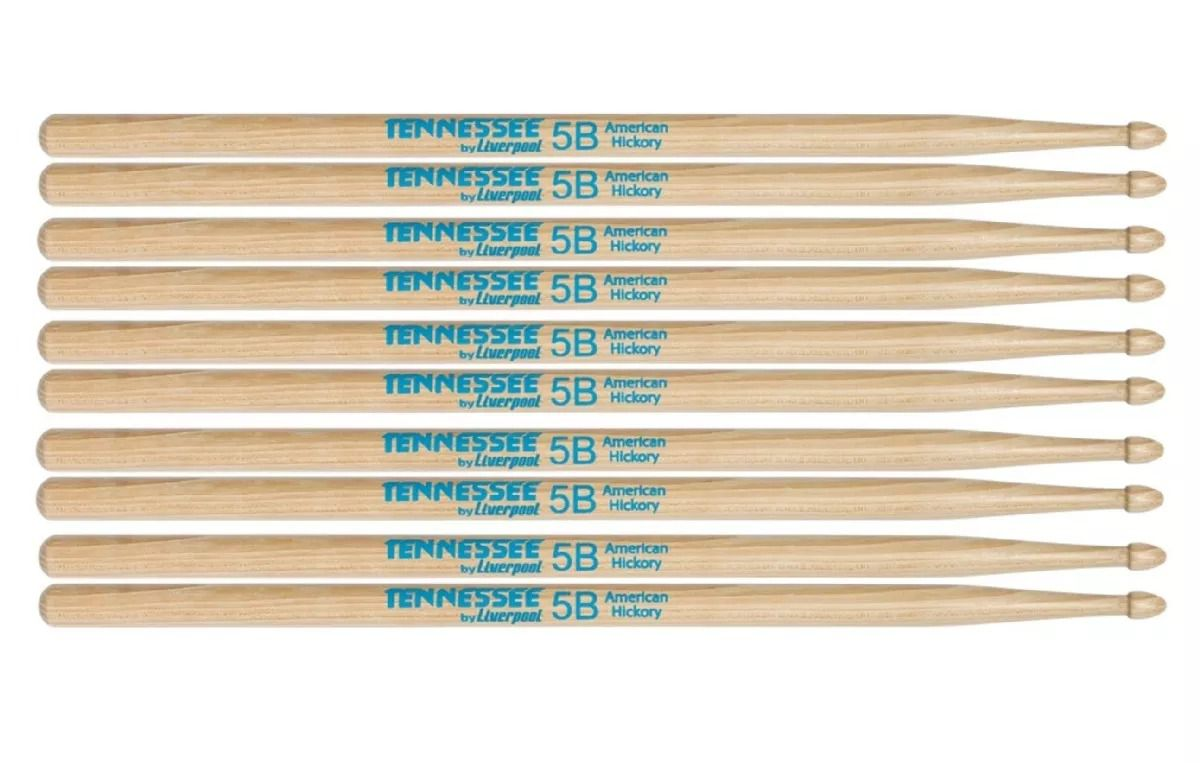 Kit 5 Pares Baqueta American Hickory Tennessee 5b Liverpool Tnhy