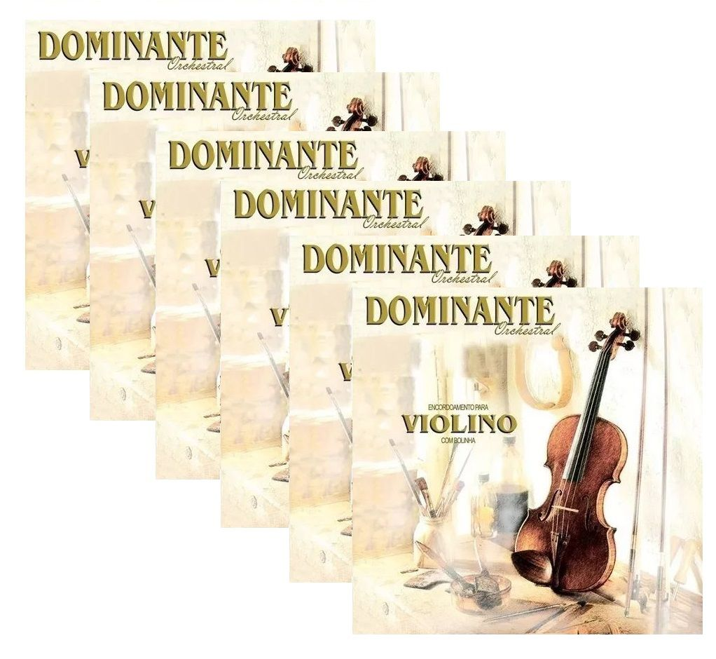 Kit 6 Encordoamento Cordas Violino Dominante Orchestral 89
