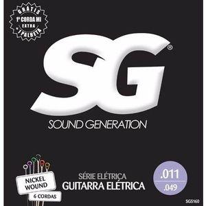 Kit 6 Encordoamento Guitarra 011 - Sg 5160 + Palheta