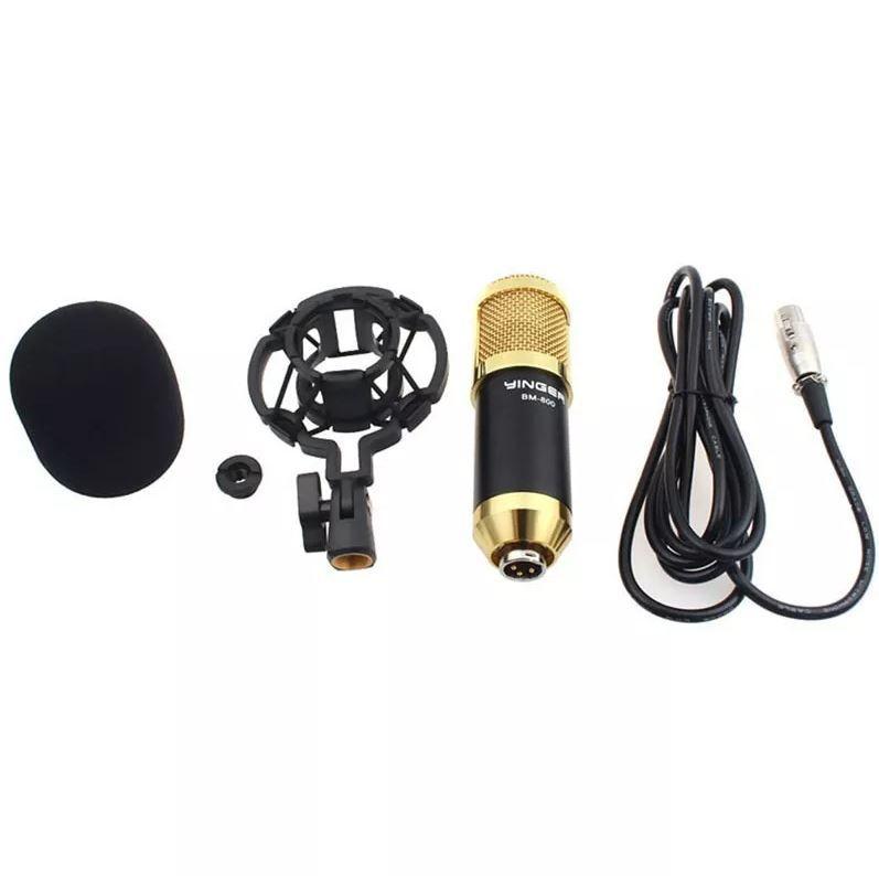 Kit Microfone Condensador Bm800 + Phantom Power Fonte 48v