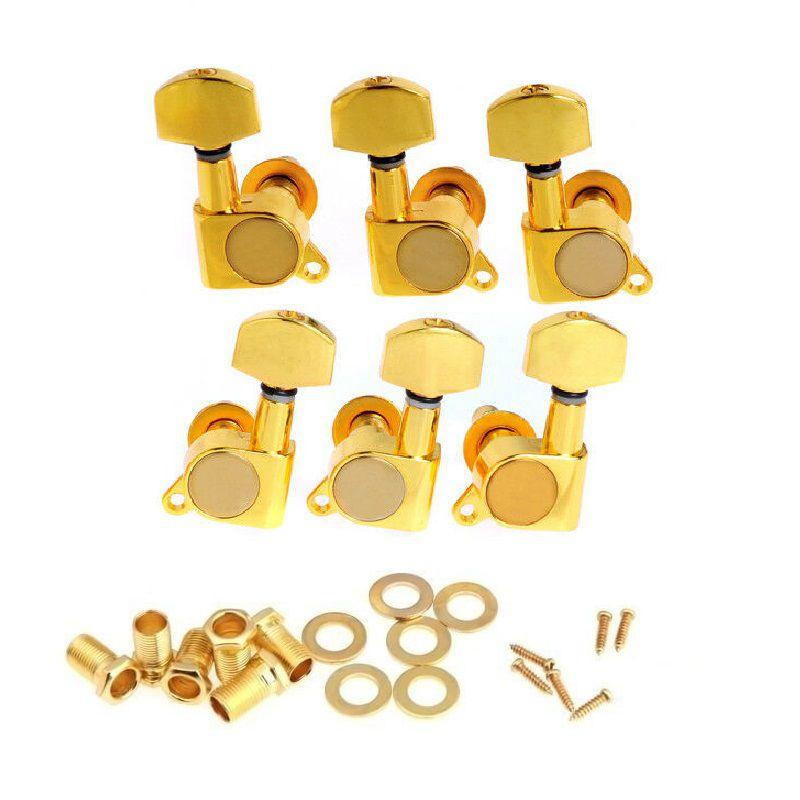 Kit Tarraxa Blindada Violão Guitarra Dourada 3+3 3R+3L Jogo Completo