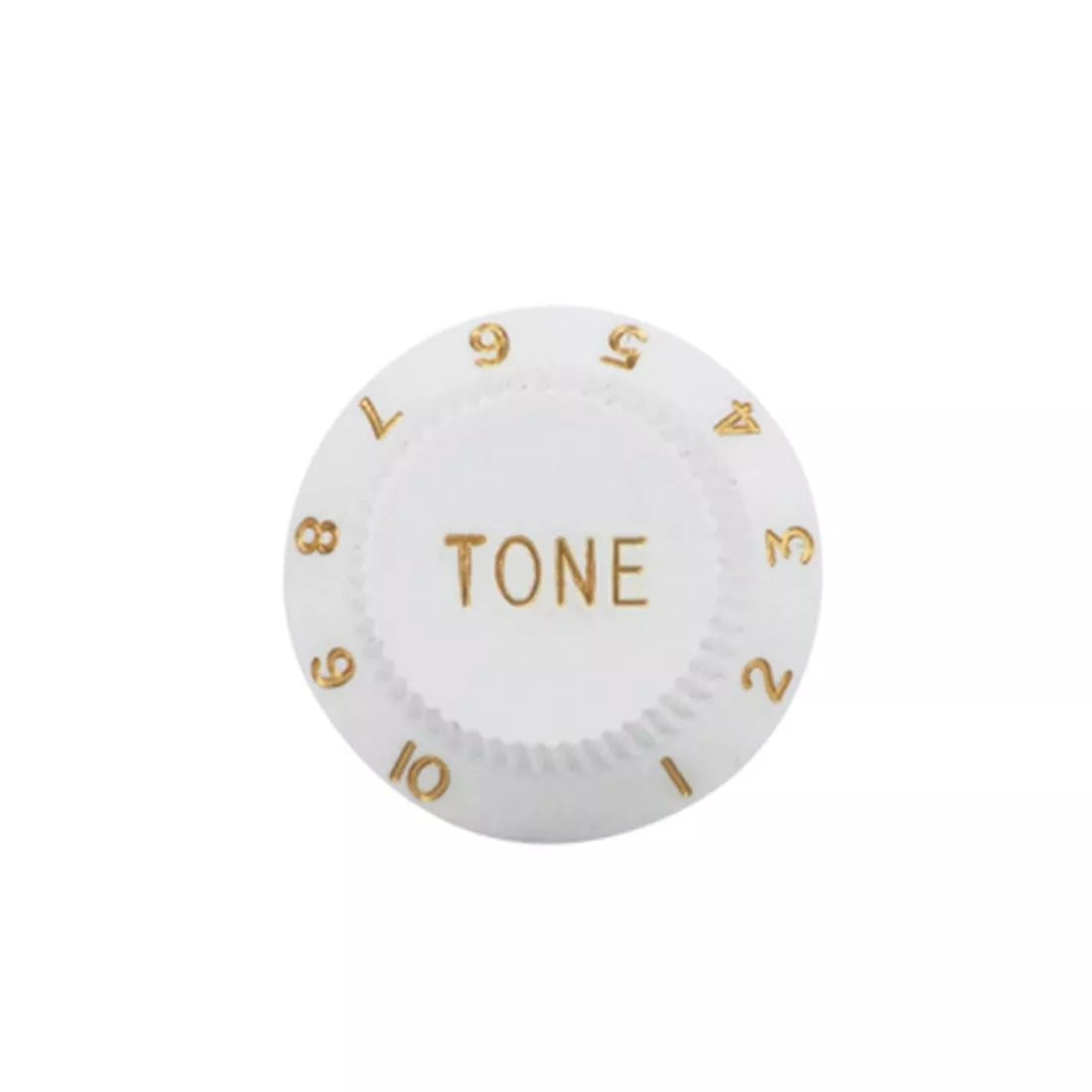 Knob Plástico Para Guitarra Stratocaster Tone Branco