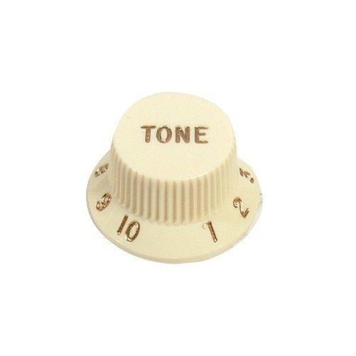 Knob Plástico Para Guitarra Stratocaster Tone Vintage Bege