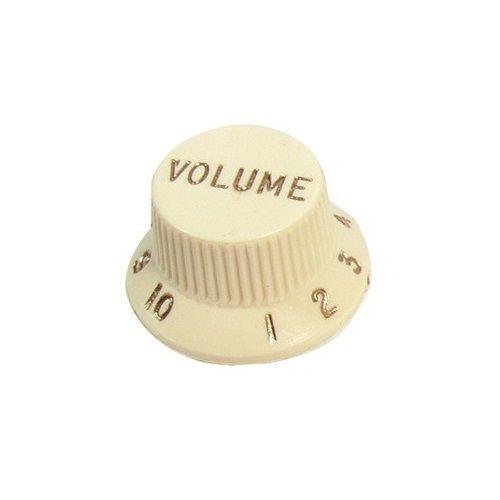 Knob Plástico Para Guitarra Stratocaster Volume Bege Vintage
