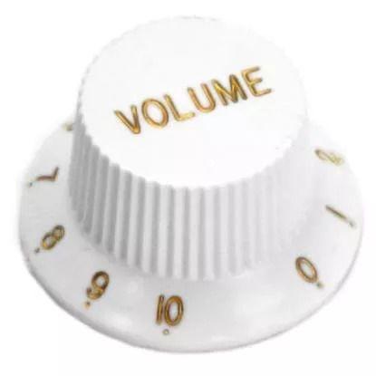 Knob Plástico Para Guitarra Stratocaster Volume Branco