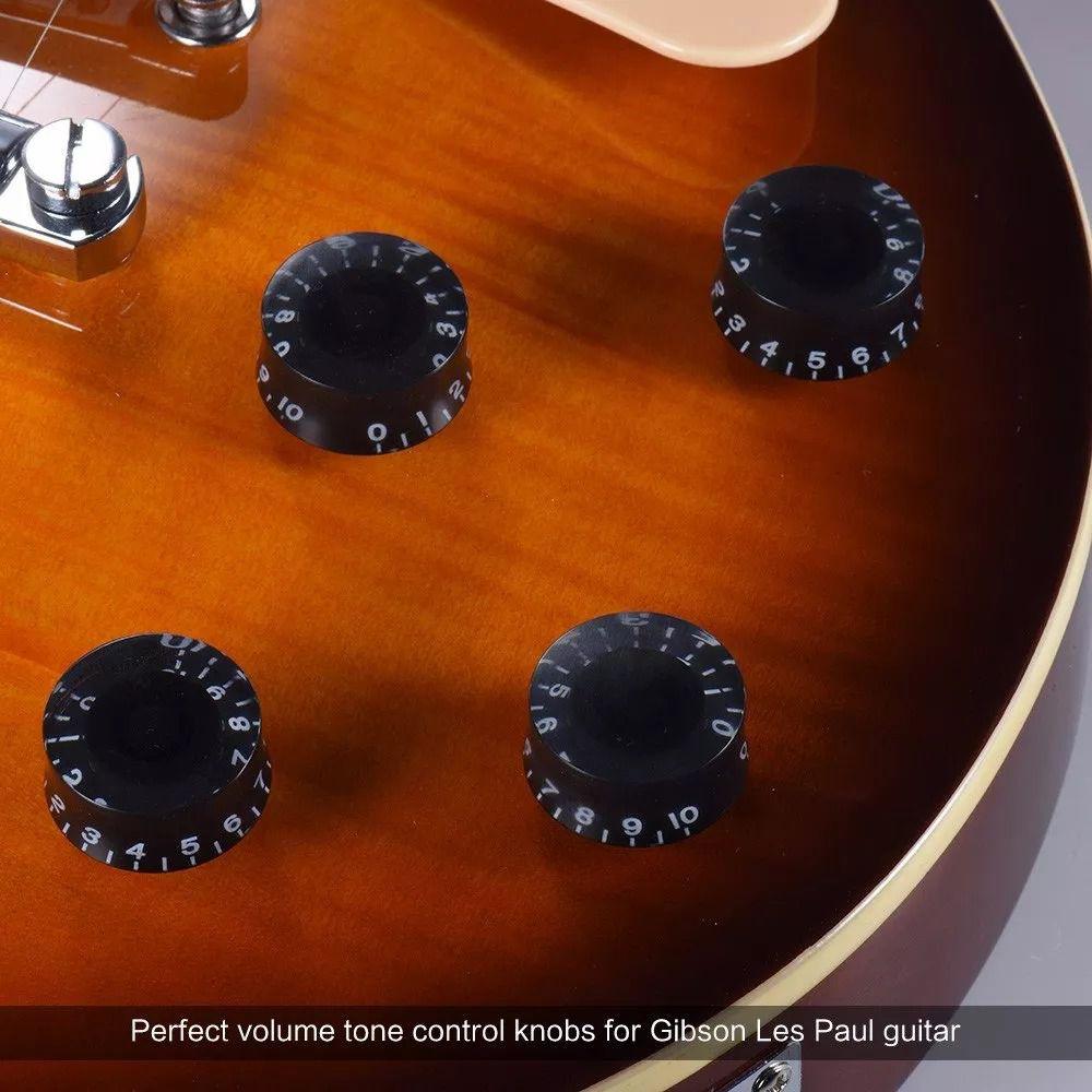 Knob Preto Para Guitarra Baixo Les Paul Sg Prs