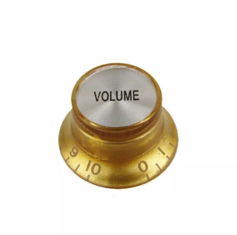 Knob Volume Dourado E Prata Guitarra Baixo Les Paul Prs Sg