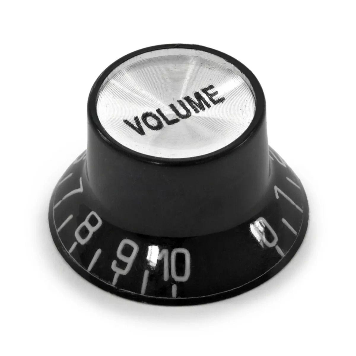 Knob Volume Preto Para Guitarra Baixo Les Paul Sg Prs
